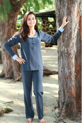 Grey Stretch Jersey Ladies' Pyjama Ninon
