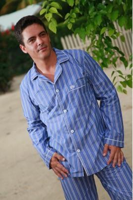 Blue striped Men's pyjama
