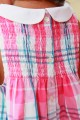 Pyjama bebe Fille Albertine rose et blanc