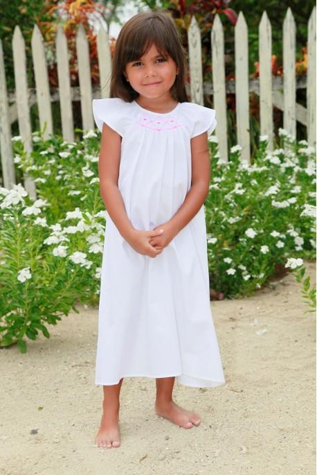 Girl's white Nightshirt Aglae
