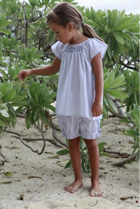 Pyjashort Fille Leopoldine imprimé gris