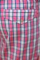 Pyjama court à carreaux roses pour Homme Senior