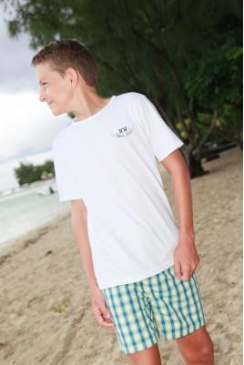Groen ruitje Pyjama voor jongens