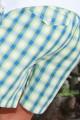 Pyjama court à carreaux verts pour garçon Junior