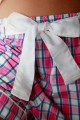 Ladies' pink checks Pyjama Venance