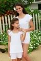 Roze gedrukt pyjama voor meisjes Valeriane