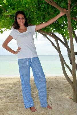 Pyjama long à manches courtes pour femme Paola