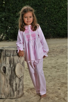 Pink Printed Girls' pyjama Colombine