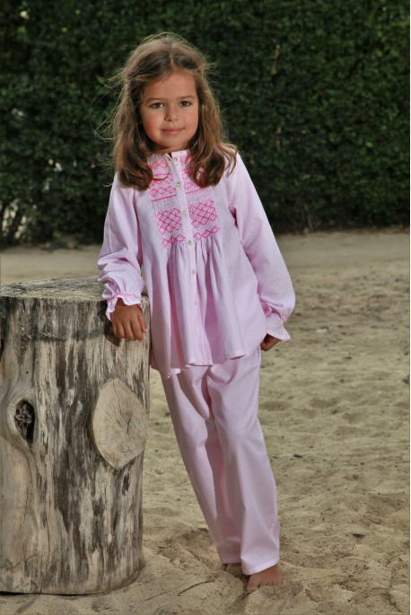 Pink Printed Girls' pyjama Colombine