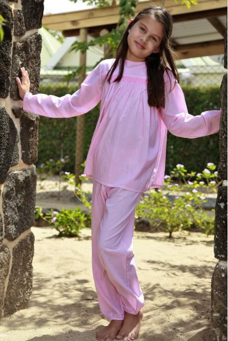 Girls' pink pyjamas blandine