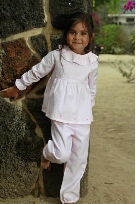Roze gedrukt Pyjama voor meisjes Castille