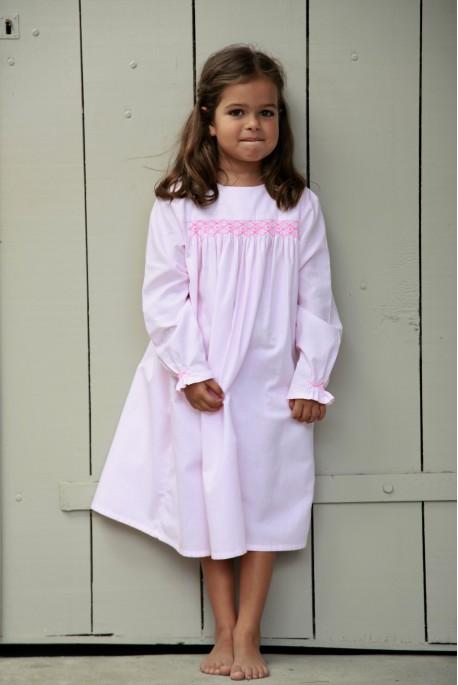 Girl's Printed Pink Nightshirt