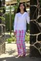Pyjama Long Carreaux rose Femme victoire