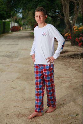 Boys' Red Check Pyjamas Gonzague Jr
