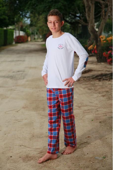 Rood ruitje Pyjama voor jongens Gonzague Jr