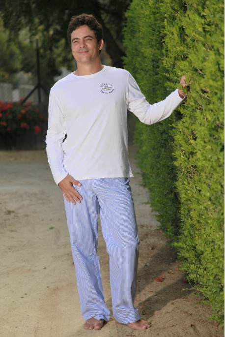 Pyjama Long Rayure Ciel Homme Gonzague Sr