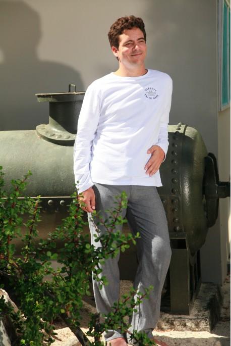 Pyjama Long Chevron Gris Homme Gonzague Sr