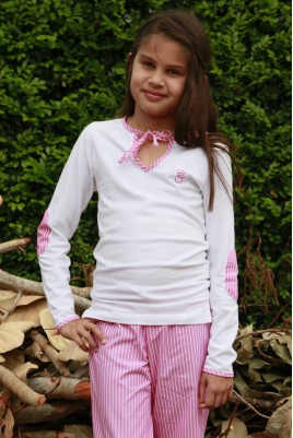 Pyjama Fille Rayé Rose Victorine