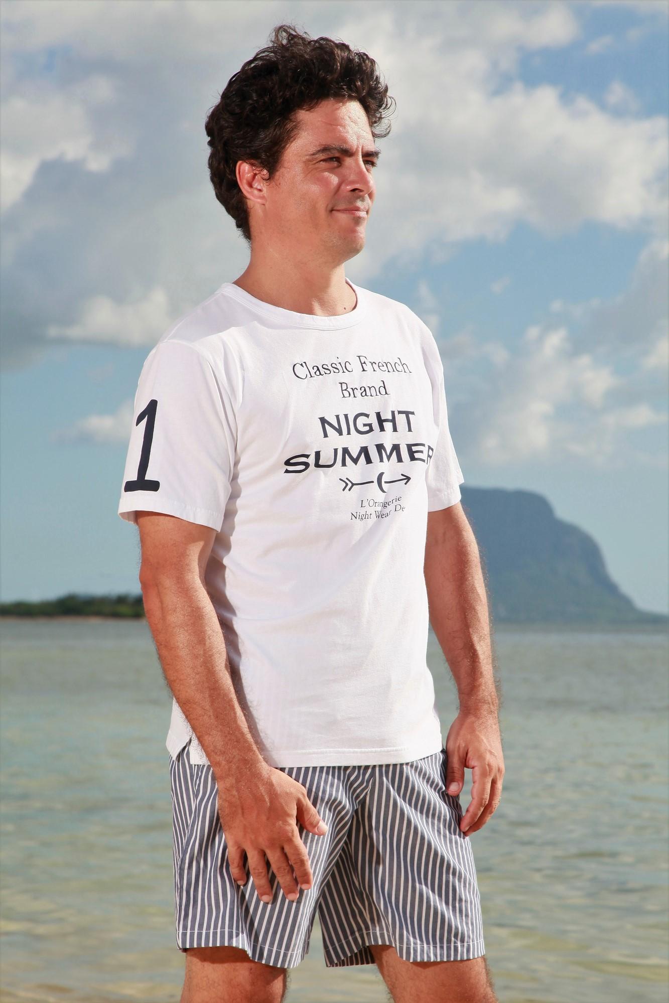 Tennis Senior Pyjama Rayures Pour L'orangerie Homme Court À Marine TJ3cFK1ul