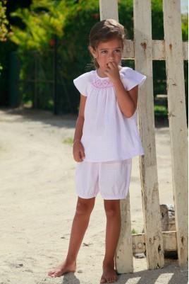 Pyjama court imprimé Rose pour Fille Pimprenelle
