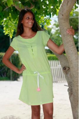 Chemise de Nuit Femme Suzanne Voile vert