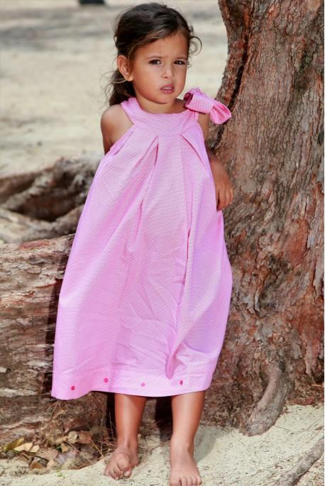 Chemise de nuit pour Fille Colombe rose
