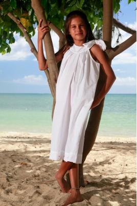 Chemise de nuit pour Fille Colombe blanche 10ans