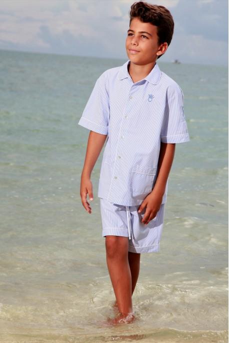 Pyjama Court Ciel pour Garçons Ulrich