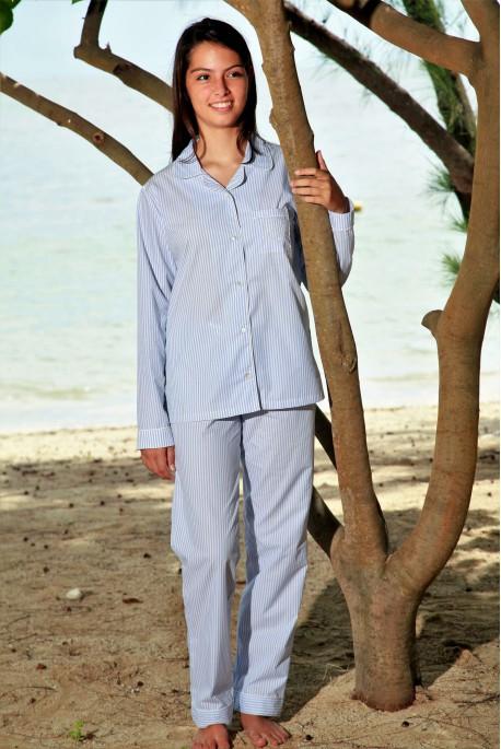 Pyjama Classique Ciel pour Femme Gloria