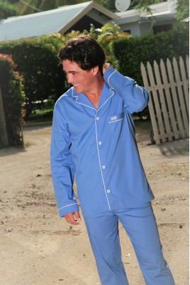 Pyjama Classique Long Bleu pour Hommes Charles