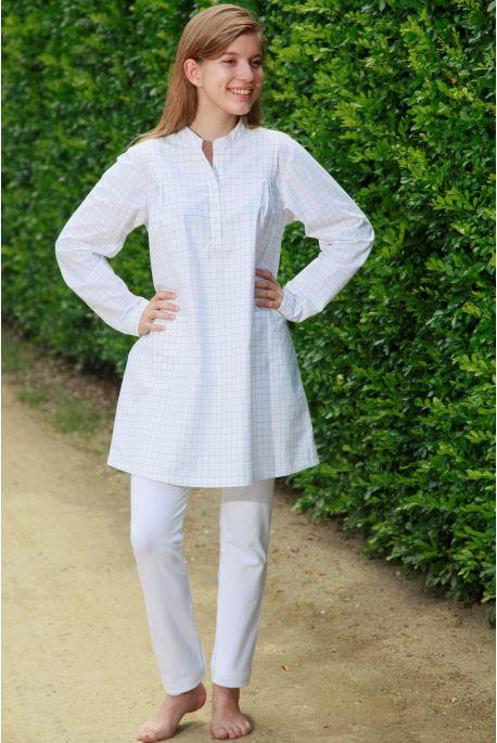 Pyjama Long à carreaux pour Femme avec Legging Sybilline