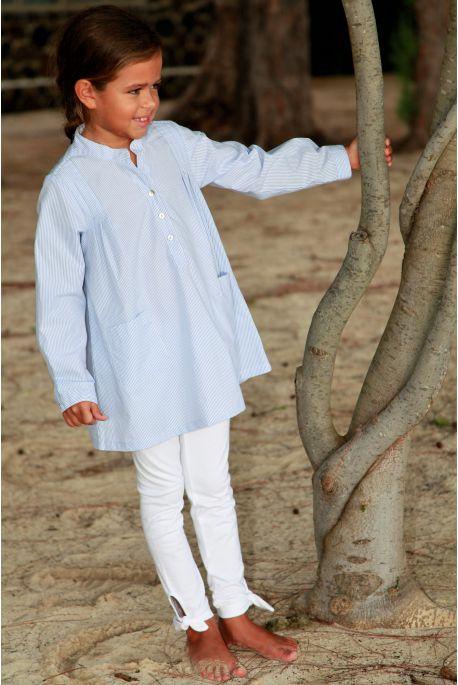 Pyjama Long à rayure ciel pour Fille avec Legging Sybilline