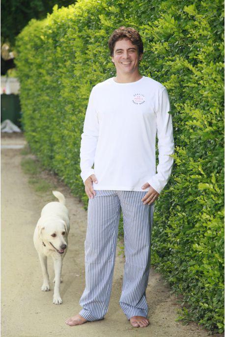 Pyjama Long pour Homme 100% Coton Gonzague