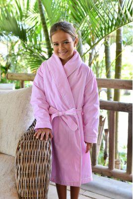 Robe de Chambre Rayure Rose pour Fille Etoile