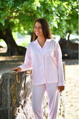 Pyjama Classique Imprimé rose pour Femme Gloria